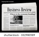 business newspaper isolated... | Shutterstock . vector #332980589
