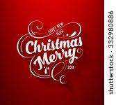 christmas greeting card design. ... | Shutterstock .eps vector #332980886