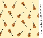 guitar music background vector | Shutterstock .eps vector #332981390