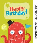 monster party card design.... | Shutterstock .eps vector #332982104