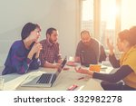 young group of people... | Shutterstock . vector #332982278