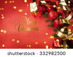 christmas card with space and...   Shutterstock . vector #332982500