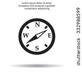 compass flat icon. vector...   Shutterstock .eps vector #332988599