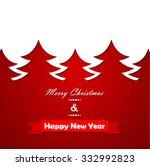 christmas knitted background... | Shutterstock .eps vector #332992823
