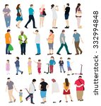 set of people. isolated... | Shutterstock . vector #332994848