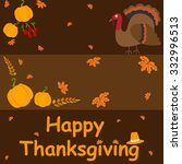 happy thanksgiving holiday...   Shutterstock .eps vector #332996513