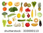 collection of fruits and... | Shutterstock . vector #333000113