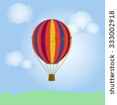 bright. colorful hot air... | Shutterstock . vector #333002918