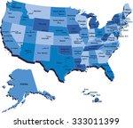 vector illustration of map of...   Shutterstock .eps vector #333011399