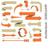 arrow set   set of arrow... | Shutterstock .eps vector #333011459