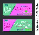 gift voucher   place for text ... | Shutterstock .eps vector #333022694