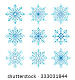 beautiful collection of snow... | Shutterstock .eps vector #333031844