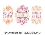 autumn elements. hand sketched... | Shutterstock .eps vector #333035240