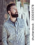 young fashion bearded model man ... | Shutterstock . vector #333035378