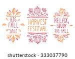 autumn elements. hand sketched... | Shutterstock .eps vector #333037790