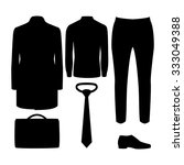 Set Of Black Silhouette Trendy...