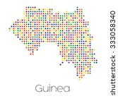 a map of the country of guinea | Shutterstock . vector #333058340