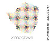 a map of the country of zimbabwe   Shutterstock . vector #333061754