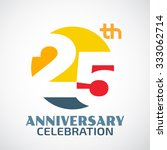 template logo 25th anniversary... | Shutterstock .eps vector #333062714