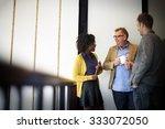 business team coffee break... | Shutterstock . vector #333072050