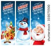 frame christmas snow tree santa ... | Shutterstock .eps vector #333075500