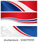 4th of july usa patriotic web... | Shutterstock . vector #333079559