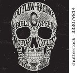 motorcycle inspired typography... | Shutterstock .eps vector #333079814