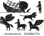 creatures of myth and legend...   Shutterstock .eps vector #333086774