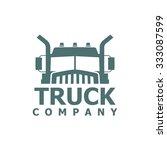 monochrome truck vector logo... | Shutterstock .eps vector #333087599