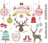 merry christmas christmas... | Shutterstock .eps vector #333090143