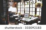 home office design workspace... | Shutterstock . vector #333092183