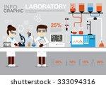 info graphic laboratory vector... | Shutterstock .eps vector #333094316