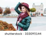 beautiful fashionable girl... | Shutterstock . vector #333095144