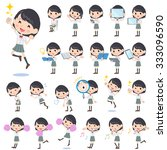 a set of school girl with... | Shutterstock .eps vector #333096590