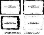 grunge frame texture set  ...   Shutterstock .eps vector #333099620