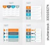 banner design 4 item orange  ... | Shutterstock .eps vector #333103274