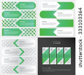 banner green color design pack  | Shutterstock .eps vector #333103364