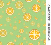 orange fruit slices pattern... | Shutterstock .eps vector #333108950