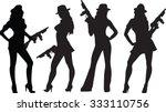 gang gals | Shutterstock .eps vector #333110756