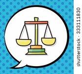 balance doodle  speech bubble | Shutterstock .eps vector #333111830