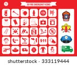 Set Of Fire Emergency Icons ...