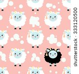 Cute Child Seamless Pattern...