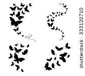 butterflies design | Shutterstock . vector #333120710