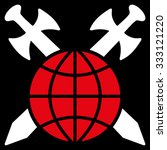 global protection vector icon.... | Shutterstock .eps vector #333121220
