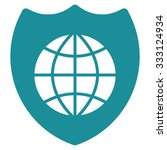 global shield vector icon.... | Shutterstock .eps vector #333124934