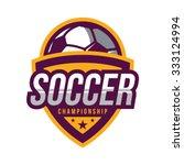 soccer logos  american logo... | Shutterstock .eps vector #333124994