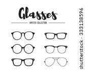 glasses hipster collection | Shutterstock .eps vector #333138596