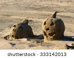 sand sculpture of jack o... | Shutterstock . vector #333142013