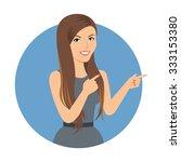 female character  portrait of... | Shutterstock .eps vector #333153380