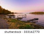 Pontoon Over The Dnieper River...